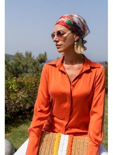 Silk and Cashmere Fular Oranj